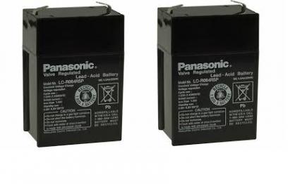 2бр PANASONIC 6V 4.5AH