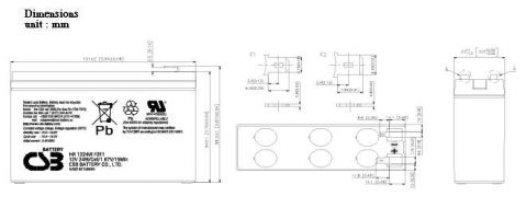 Elmag.bg baterii CSB-HR1221W-12V 5.1Ah