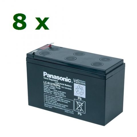 "Батерии ""KIT12-2"" Panasonic 12V 7.2Ah 8бр"