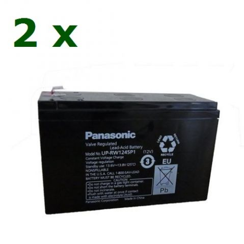 KIT20 Panasonic (2 x Panasonic-UP-RW1245P1-12V/9Ah )