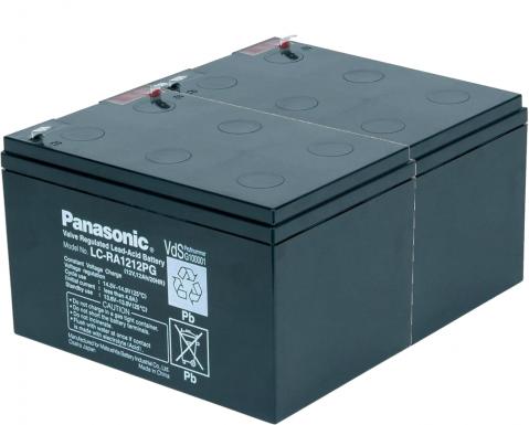 KIT14 Panasonic (2 x Panasonic-LC-RA1212PG1-12v/12 Ah )