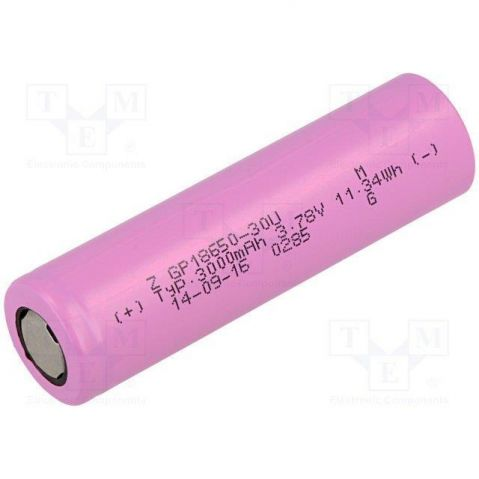 GP XP-18650-30U  - 3.6V / 2900 mAh