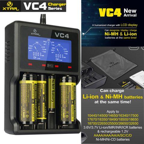 XTAR-VC4 - Универсално зарядно у-во за Li-Yon батерии