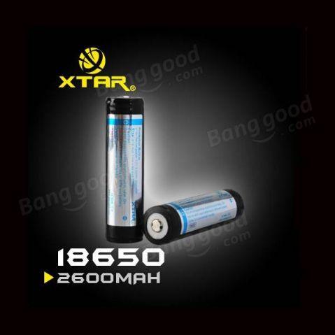 XTAR-18650+PCB - 3.6V / 2600 mAh