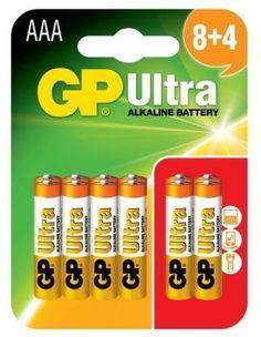 12 x GP Ultra Alkaline LR03/AAA/ - 1.5V