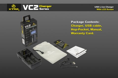 XTAR-VC2 - Универсално зарядно у-во за Li-Yon батерии