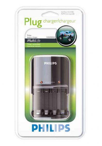 PHILIPS SCB-2000NB Plug - Универсално зарядно у-во за Ni-Cd/Ni-MH батерии